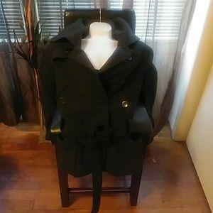 Wool trench pea coat